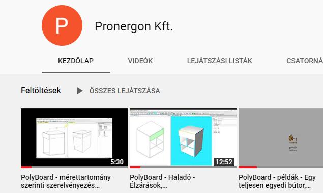 Pronergon Youtube csatorna